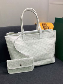 Goyard canvas isabelle tote pm bag GY0025 white