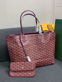 Goyard canvas isabelle tote pm bag GY0025 wine red