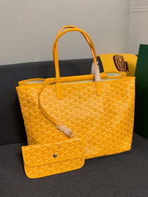 Goyard canvas isabelle tote pm bag GY0025 yellow