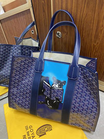 Goyard canvas shopping tote bag GY0026 blue