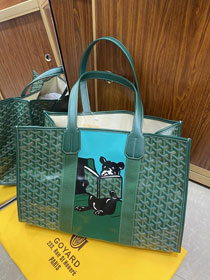 Goyard canvas shopping tote bag GY0026 green