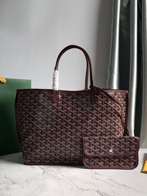 Goyard original calfskin&canvas reversible anjou tote pm bag GY0030 bordeaux