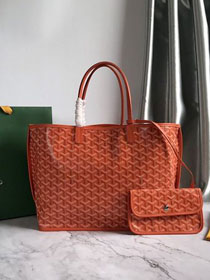 Goyard original calfskin&canvas reversible anjou tote pm bag GY0030 orange