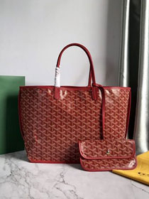 Goyard original calfskin&canvas reversible anjou tote pm bag GY0030 wine red