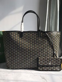 Goyard original canvas saint louis tote bag gm GY0027 black