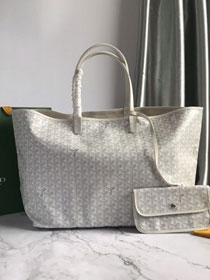 Goyard original canvas saint louis tote bag gm GY0027 white
