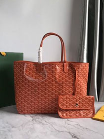 Goyard original canvas saint louis tote bag pm GY0028 orange