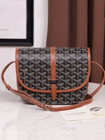 Goyard canvas belvedere bag GY0012 black&brown