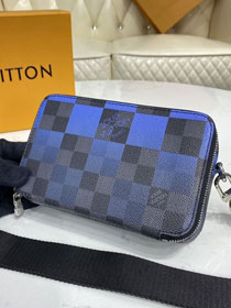 Louis vuitton original damier graphite alpha bag N60414 blue