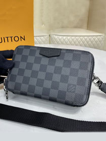 Louis vuitton original damier graphite alpha bag N60418 black