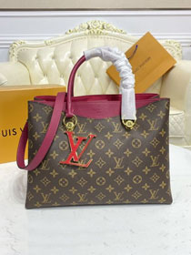 Louis vuitton original monogram riverside tote bag m40053 burgundy