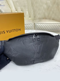 Louis vuitton original monogram shadow calfskin discovery bumbag M57289 black