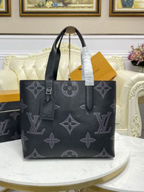 Louis vuitton original shadow calfskin cabas voyage tote bag M57290 black