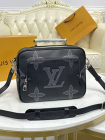 Louis vuitton original shadow calfskin flight case messenger bag M57287 black