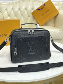 Louis vuitton original shadow calfskin flight case messenger bag M57288 black