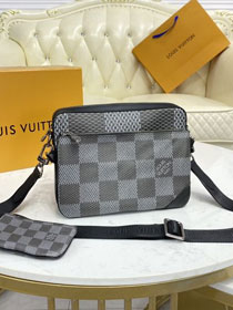 Louis vuitton  original damier graphite trio messenger bag N50017 black