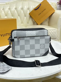 Louis vuitton  original damier graphite trio messenger bag N50027 white