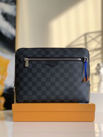 Louis vuitton original damier graphite pouch n60411