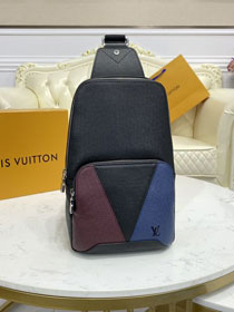 Louis vuitton original calfskin avenue sling bag M30701 black