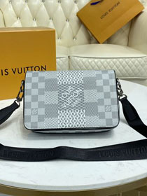 Louis vuitton original damier graphite studio messenger bag N50014 beige