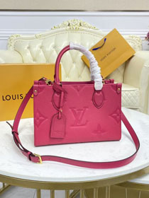 2021 Louis vuitton original embossed calfskin onthego pm M45660 freesia pink
