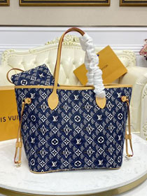 2021 Louis vuitton original since 1854 textile neverfull mm M57484 blue