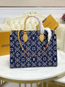 2021 Louis vuitton original since 1854 textile onthego mm M57396 blue