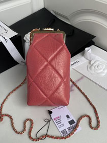 CC original aged lambskin clutch with chain AP1558 coral