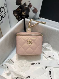 CC original grained calfskin small vanity with chain AP2161 pink