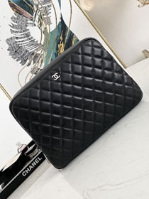 CC original lambskin large cosmetic pouch 31106 black