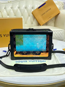 Louis vuitton original PVC soft trunk M55932 black
