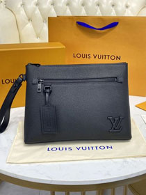 Louis vuitton original calfskin aerogram clutch M69837 black