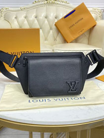 Louis vuitton original calfskin aerogram slingbag M57081 black