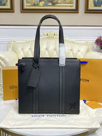 Louis vuitton original calfskin aerogram tote bag M57308 black