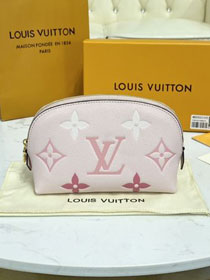 Louis vuitton original calfskin cosmetic pouch M80502 pink