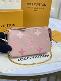 Louis vuitton original calfskin mini pochette M80501 pink