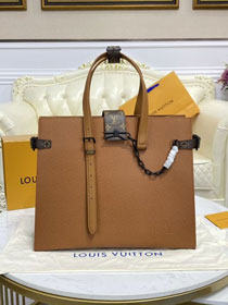 Louis vuitton original calfskin shopping bag M30725 brown