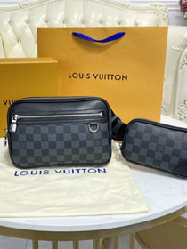 Louis vuitton original damier graphite scott bag N50018