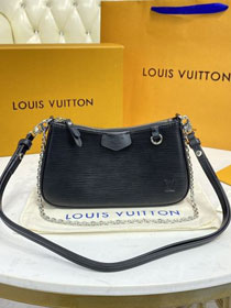 Louis vuitton original epi leather easy pouch M80471 black