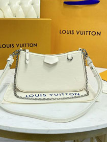 Louis vuitton original epi leather easy pouch M80479 beige