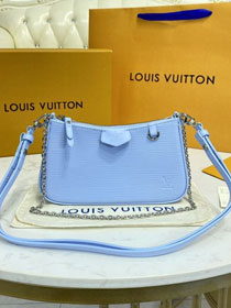 Louis vuitton original epi leather easy pouch M80480 blue