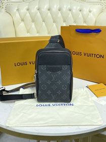 Louis vuitton original monogram eclipse outdoor sling bag M30741 black