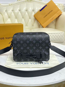 Louis vuitton original monogram eclipse steamer messenger bag M45585 black