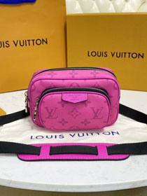 Louis vuitton original monogram outdoor bumbag M30754 rose red