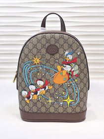 2021 GG original canvas donald duck backpack 552884 brown