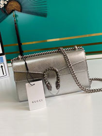 GG original calfskin dionysus small shoulder bag 499623 silver